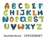 dino alphabet vector funny... | Shutterstock .eps vector #1943308687