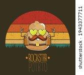 Rock Star Potato Cartoon...