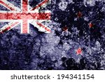 new zealand flag painted on... | Shutterstock . vector #194341154