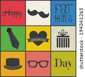 fathers day over colorful... | Shutterstock .eps vector #194341265