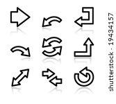 black contour arrows web icons... | Shutterstock .eps vector #19434157