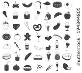 food and drink icons collection | Shutterstock .eps vector #194344805