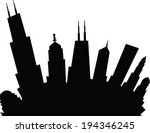 cartoon skyline silhouette of... | Shutterstock .eps vector #194346245
