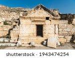 Small photo of Pamukkale, Denizli, Turkey – November 18, 2020. Tomb of Philip the Apostle at Hierapolis ancient site in Denizli province of Turkey. Philip the Apostle was one of the Twelve Apostles of Jesus