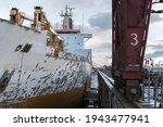 Giant Cargo Vessel Being...