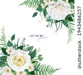 vector  floral watercolor... | Shutterstock .eps vector #1943486257