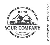 vintage retro cattle farm... | Shutterstock .eps vector #1943487724