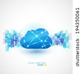 cloud computing with motion... | Shutterstock .eps vector #194350061