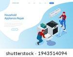 isometric household appliances... | Shutterstock .eps vector #1943514094
