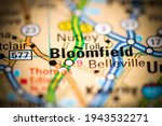 Bloomfield. New Jersey. USA on a geography map