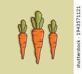 carrot cartoon illustration.... | Shutterstock .eps vector #1943571121