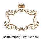 royal medieval frame with crown ... | Shutterstock .eps vector #1943596561