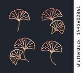 beautiful rose gold gingko... | Shutterstock .eps vector #1943602861