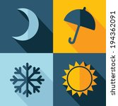 Vector Weather Set Icon. Moon...