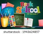 back to school vector banner... | Shutterstock .eps vector #1943624857
