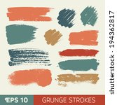 vector watercolor ink spot set. ... | Shutterstock .eps vector #194362817