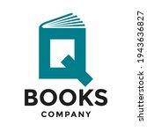 book q letter vector logo... | Shutterstock .eps vector #1943636827