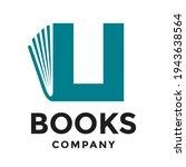book u letter vector logo... | Shutterstock .eps vector #1943638564