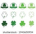 shamrock monograms  st. patrick ... | Shutterstock .eps vector #1943650954