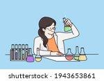 working in laboratory ...   Shutterstock .eps vector #1943653861