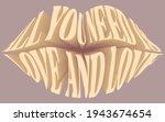 retro lip inspirational slogan...   Shutterstock .eps vector #1943674654