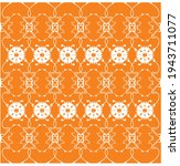 Orange Background With Floral...