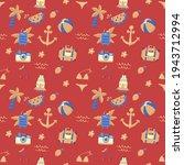 seamless summer pattern vector... | Shutterstock .eps vector #1943712994