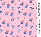 seamless wedding pattern vector ... | Shutterstock .eps vector #1943713024
