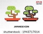 bonsai icon on transparent...