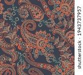 paisley seamless pattern.... | Shutterstock . vector #1943737957