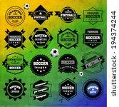 creative soccer vector design | Shutterstock .eps vector #194374244