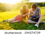 happy family resting on the... | Shutterstock . vector #194374739