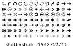 black vector arrows collection. ...