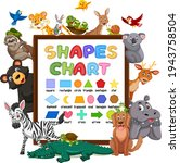 shapes chart on a board with... | Shutterstock .eps vector #1943758504