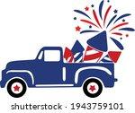 4th of july svg vector... | Shutterstock .eps vector #1943759101