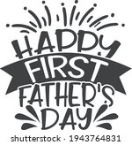 happy first father's day  ... | Shutterstock .eps vector #1943764831