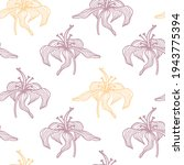 Trendy Floral Seamless Pattern. ...