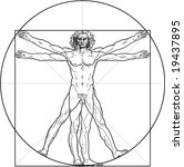 The Vitruvian Man. Detailed...