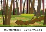 mixed forest. tree trunks ... | Shutterstock .eps vector #1943791861