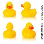 Toy Rubber Duck Isolated On...