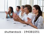 casual business team clapping... | Shutterstock . vector #194381051