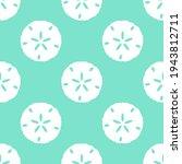 seamless sand dollar vector... | Shutterstock .eps vector #1943812711
