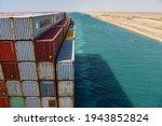 Suez canal  egypt   april  19...