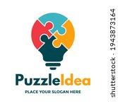 puzzle idea vector logo... | Shutterstock .eps vector #1943873164