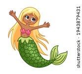beautiful cartoon mermaid... | Shutterstock .eps vector #1943879431
