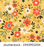 trendy seamless vector floral... | Shutterstock .eps vector #1943901034