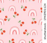 seamless pattern with cherry...   Shutterstock .eps vector #1943901124