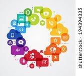 vector background. social media ... | Shutterstock .eps vector #194394335