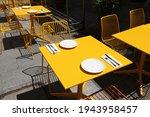 Sidewalk Cafe In Poland. Warsaw ...