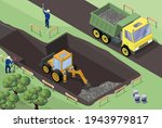 Dump Truck And Excavator On A...